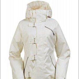 Burton Dream Snowboarding White Jacket Chinese